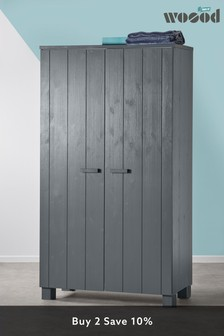 Grey Cody Double Wardrobe By Woood