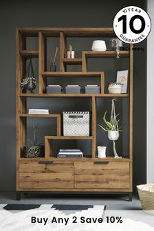 Oak Effect Bronx Display Shelf