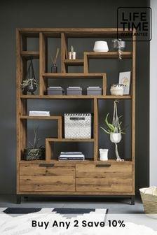 Oak Effect  Bronx Tall Display Shelf