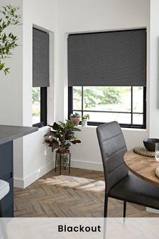 Textured Rib Blackout Roller Blind