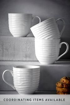 Set of 4 Mugs Malvern Embossed
