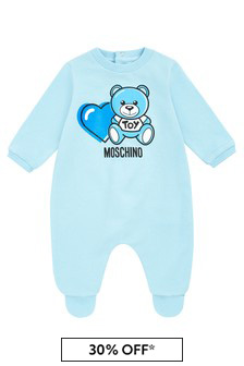 Baby Boys Blue Cotton Babygrow
