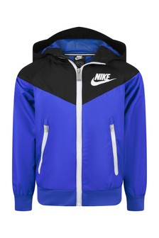 Boys Blue Nylon Windbreaker Jacket