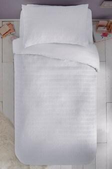 Supersoft Seersucker Duvet Cover and Pillowcase Set