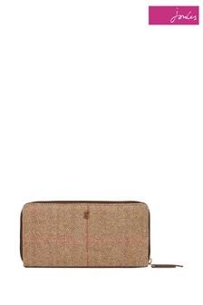 Joules Brown Adeline Tweed Purse