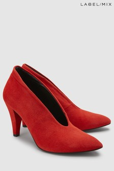 Red  Mix/Hudson Stacey Suede Court Shoe