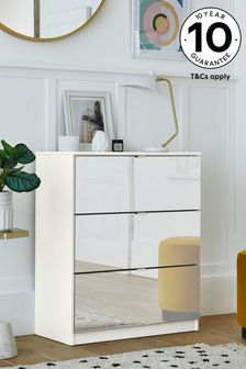 Mirrored Flynn 3 Drawer Chest