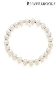 Beaverbrooks Silver Freshwater Pearl Bracelet