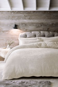 Mink  Super Soft Fleece Duvet Cover and Pillowcase Set