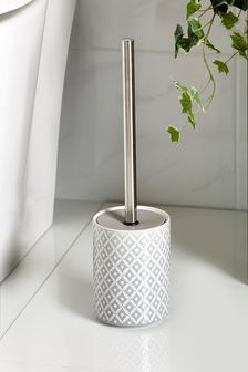 Grey Geo Toilet Brush
