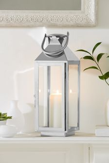 Medium Chrome Lantern