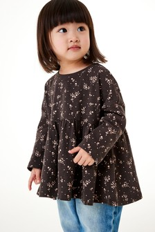 Charcoal Floral Slouchy T-Shirt (3mths-7yrs)