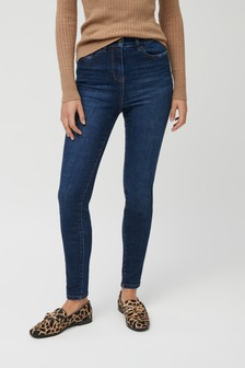 Dark Blue High Waist Authentic Skinny Jeans