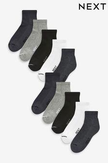 Mixed Mid Cut Sports Socks Ten Pack