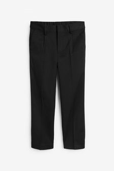 Black Regular Waist Pleat Front Trousers (3-16yrs)