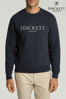 Hackett Blue Crew Sweat Top