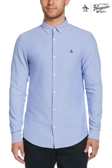 Original Penguin® Blue Slim Fit Cotton Oxford Shirt