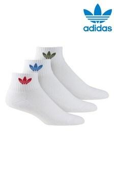 adidas Originals Trefoil 3 Pack Ankle Socks