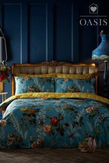Oasis Leighton Floral Cotton Duvet Cover and Pillowcase Set