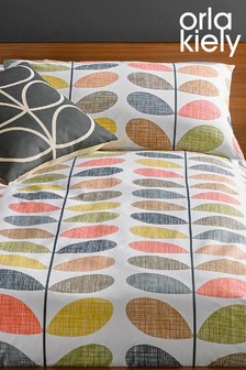 Set of 2 Orla Kiely Scribble Stem Floral Cotton Pillowcases