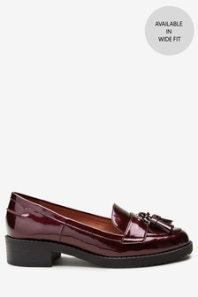 Berry Patent  Cleated Tassel Loafers