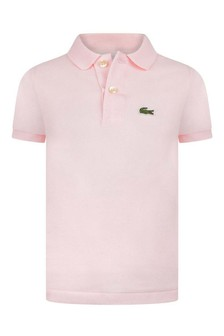 Boys Pale Pink Polo Top
