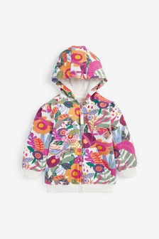 Tropical Floral Hoody Soft Touch Jersey (3mths-7yrs)