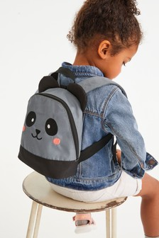 Grey Character Rucksack With Reins