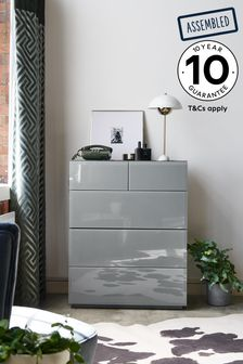 Grey Sloane Collection Luxe 5 Drawer Multi Chest