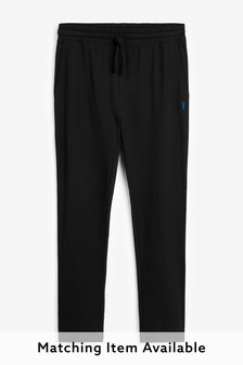 Black   Lightweight Open Hem Joggers