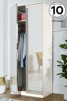 Mirrored Flynn Double Wardrobe