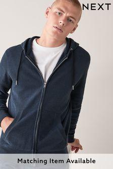 Navy Zip Through Hoody Loungewear