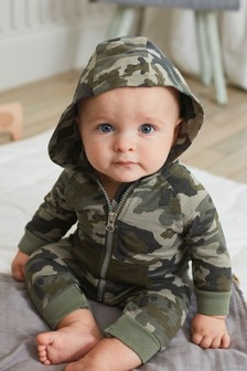 Camouflage Hooded Romper (0mths-2yrs)