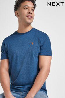 Teal Marl Regular Fit Stag T-Shirt