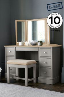 Grey Hampton Country Luxe Storage Dressing Table