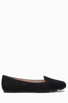 Black Suede  Forever Comfort Square Toe Slipper Shoes