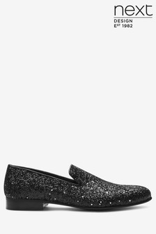 Black Glitter Party Loafer