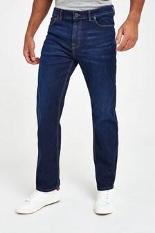 Dark Blue Straight Fit Slim Fit Jeans