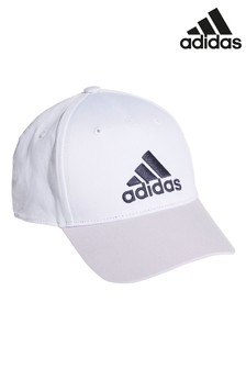 adidas Kids White/Purple Cap