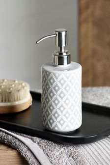 Grey Geo Soap Dispenser