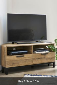 Oak Effect Bronx Corner TV Stand