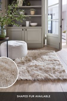 Cream Arctic Cosy Faux Fur Rug