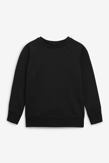 Black Crew Neck Sweater (3-17yrs)