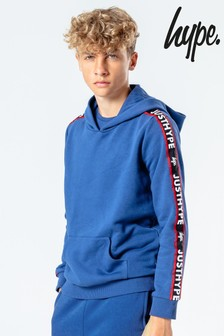 Hype. Kids Blue JH Tape Pullover Hoody