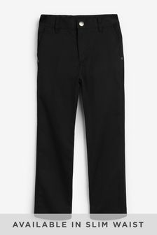 Black Regular Waist Jean Trousers (3-16yrs)