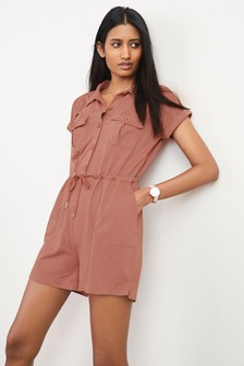 Pink Utility Playsuit