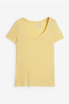 Lemon Yellow Womens Slouch V-Neck T-Shirt
