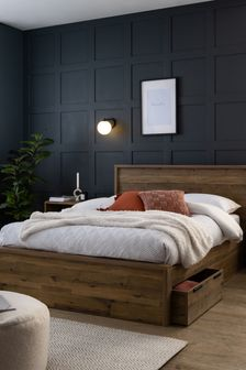 Oak Bronx Two Drawer Bed