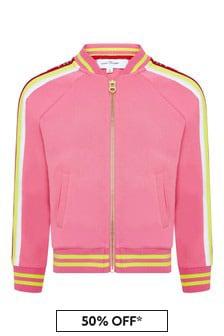 Girls Pink Cotton Sweat Top