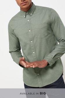 64d093775cde7 ... Navy Regular Fit Long Sleeve Oxford Shirt ...